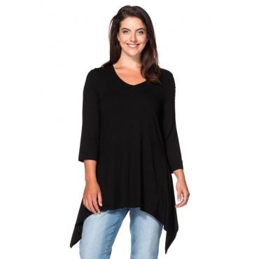 Große Größen: Longshirt, schwarz, Gr.40/42-56/58