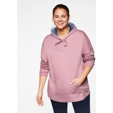Longsweatshirt in Interlock-Qualität mit Anti-Pilling, hellmauve, Gr.44/46-56/58