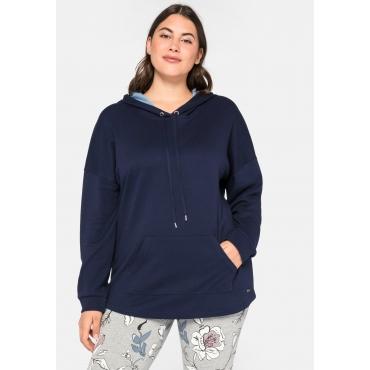 Longsweatshirt in Interlock-Qualität mit Anti-Pilling, marine, Gr.44/46-56/58