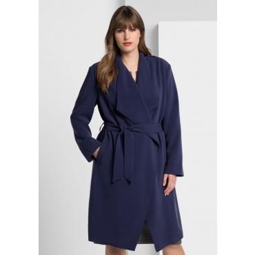 Große Größen: Mantel mit großem Schalkragen, marine, Gr.40-58