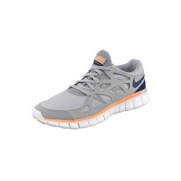 Große Größen: Nike Free Run 2 Wmns Laufschuh, Grau-Dunkelblau, Gr.36-42