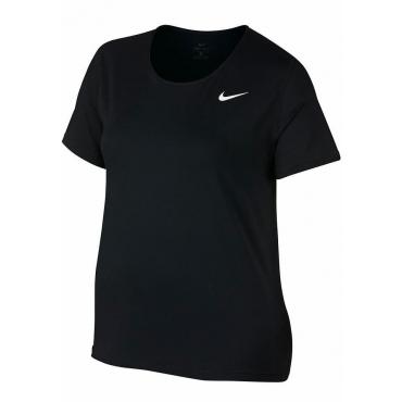 Große Größen: Nike Funktionsshirt »W NP TOP SS ALL OVER MESH EXT PLUS SIZE«, schwarz, Gr.XL-XXXL