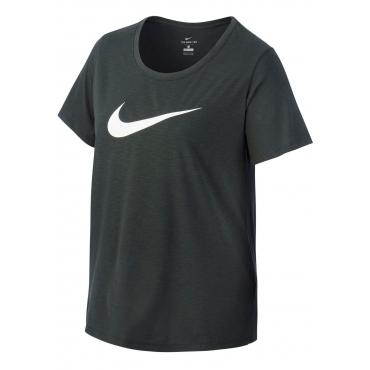 Große Größen: Nike Funktionsshirt »WOMEN NIKE DRY TEE DFCT SCOOP PLUS SIZE«, dunkelgrün, Gr.XL-XXXL