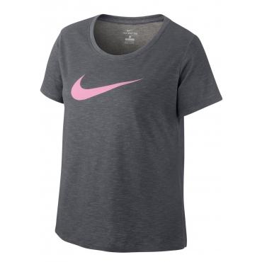 Große Größen: Nike Funktionsshirt »WOMEN NIKE DRY TEE DFCT SCOOP PLUS SIZE«, grau, Gr.XL-XXXL