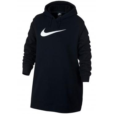 Große Größen: Nike Sportswear Sweatkleid »WOMEN NIKE SPORTSWEAR SWOOSH HOODIE OS FRENCHTERRY PLUS SIZE«, schwarz, Gr.XL-XXXL
