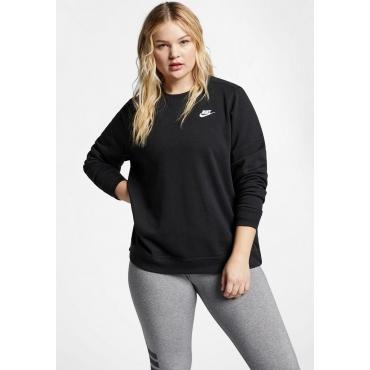 Große Größen: Nike Sportswear Sweatshirt »WOMEN NIKE SPORTSWEAR CLUB CREW FLEECE PLUS SIZE«, schwarz, Gr.XL-XXXL