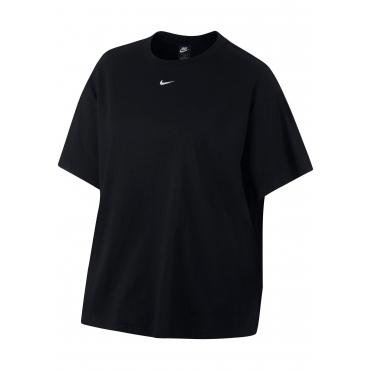 Große Größen: Nike Sportswear T-Shirt »WOMEN NIKE SPORTSWEAR ESSENTIAL TOP SHORTSLEEVE BOYFIT PLUS SIZE«, schwarz, Gr.XL-XXXL