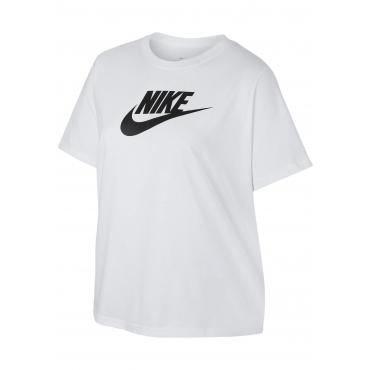 Große Größen: Nike Sportswear T-Shirt »WOMEN NIKE SPORTSWEAR TEE ESSENTIAL FUTURA PLUS SIZE«, weiß, Gr.XL-XXXL