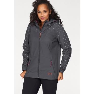Große Größen: Ocean Sportswear Softshelljacke, anthrazit, Gr.40-58