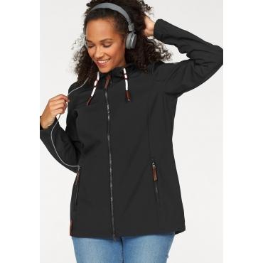 Große Größen: Ocean Sportswear Softshelljacke, schwarz, Gr.42-58