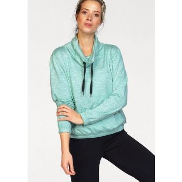 Große Größen: Ocean Sportswear Sweatshirt, türkis meliert, Gr.40/42-56/58