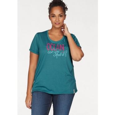 Ocean Sportswear T-Shirt, schwarz-petrol, Gr.40/42-56/58
