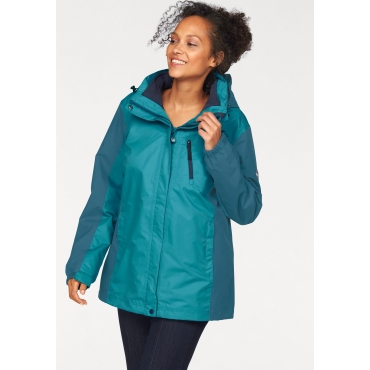Polarino 3-in-1-Funktionsjacke, petrol, Gr.40-58