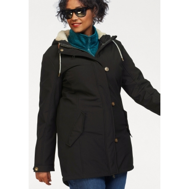 Polarino Softshellparka, schwarz, Gr.44-58
