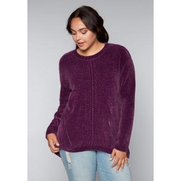 Große Größen: Pullover aus Chenille, beere, Gr.44/46-56/58