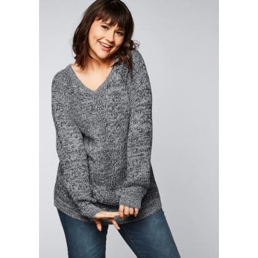 Große Größen: Pullover aus verschiedenen Strickarten, marine, Gr.44/46-56/58
