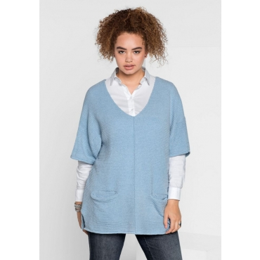 Große Größen: Pullover im Kimono-Stil, pastellblau, Gr.40/42-56/58