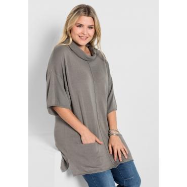 Große Größen: Pullover im Kimono-Stil, steingrau, Gr.40/42-56/58