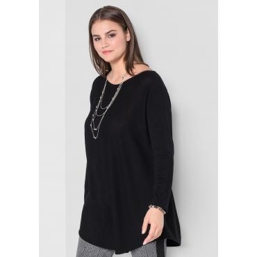 Große Größen: Pullover in Oversize-Form, schwarz, Gr.44/46-56/58