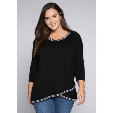 Große Größen: Pullover in Oversized-Form, schwarz, Gr.44/46-56/58
