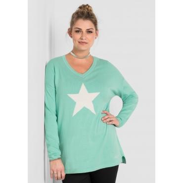Große Größen: Pullover, minze, Gr.40/42-56/58