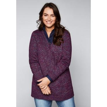 Große Größen: Pullover mit Glanzgarn, gemustert, Gr.44/46-56/58