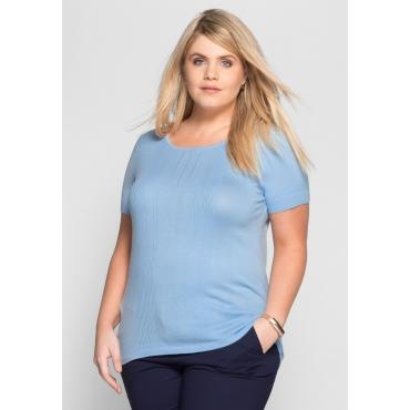 Große Größen: Pullover mit kurzem Arm, pastellblau, Gr.40/42-56/58