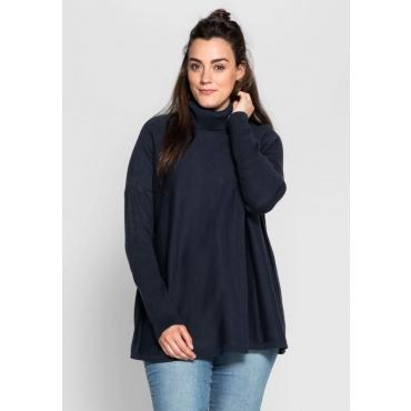 Große Größen: Pullover mit offenen Schlitzen, marine, Gr.40/42-56/58