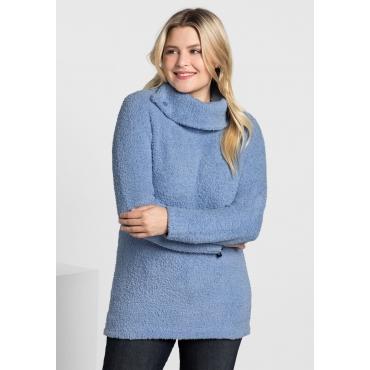 Große Größen: Pullover mit weitem Kragen, pastellblau, Gr.40/42-56/58