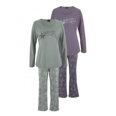 Große Größen: Vivance Dreams Pyjama (2 Stück), pink-mint, Gr.40/42-56/58