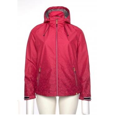 Regenjacke wasserabweisend Kapuze windddicht, pink, Gr.44-58