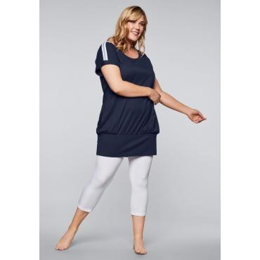 Relax-Kleid mit breitem elastischem Bund, marine, Gr.44-58