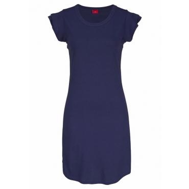 Große Größen: s.Oliver RED LABEL Bodywear Nachthemd mit Volants, nachtblau, Gr.44/46-56/58