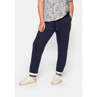 Schmale Hose mit elastischem Beinabschluss, marine, Gr.44-58