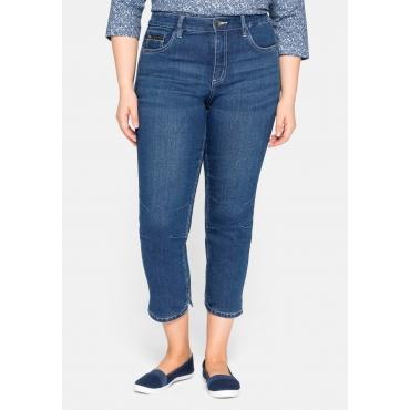 Schmale Jeans in 7/8-Länge, mit Abnähern am Knie, blue Denim, Gr.44-58