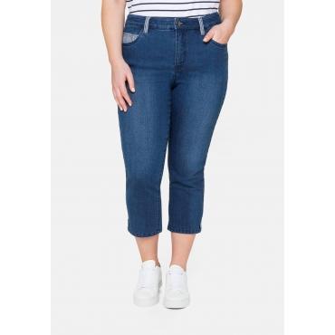 Schmale Jeans in 7/8-Länge, mit Kontrastdetails, blue Denim, Gr.40-58