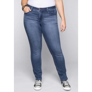 Große Größen: Schmale Jeans in Sweat-Qualität, blue Denim, Gr.44-58