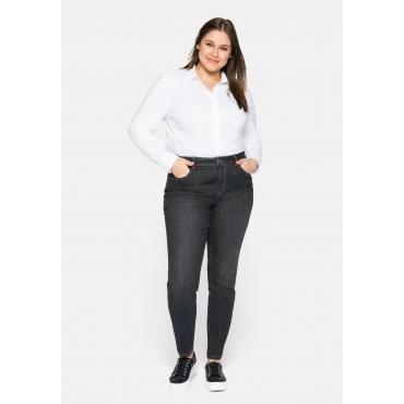 Schmale Jeans mit Bodyforming-Effekt, black Denim, Gr.44-58