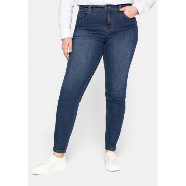 Schmale Jeans mit Bodyforming-Effekt, blue Denim, Gr.44-58