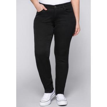 Große Größen: Schmale Stretch-Jeans, black Denim, Gr.22-104