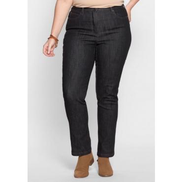 Große Größen: Schmale Stretch-Jeans, black Denim, Gr.40-54