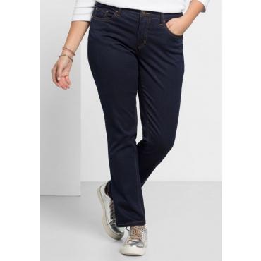 Große Größen: Schmale Stretch-Jeans, blue black Denim, Gr.20-116