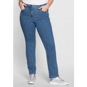 Große Größen: Schmale Stretch-Jeans, blue bleached Denim, Gr.40-54