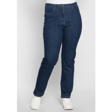 Große Größen: Schmale Stretch-Jeans, blue stone Denim, Gr.40-54