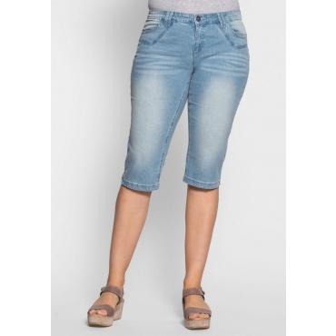 Große Größen: Schmale Stretch-Jeans-Capri, light blue Denim, Gr.40-58