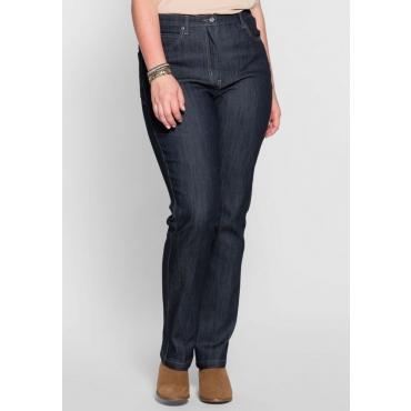 Große Größen: Schmale Stretch-Jeans, dunkelblau, Gr.40-54