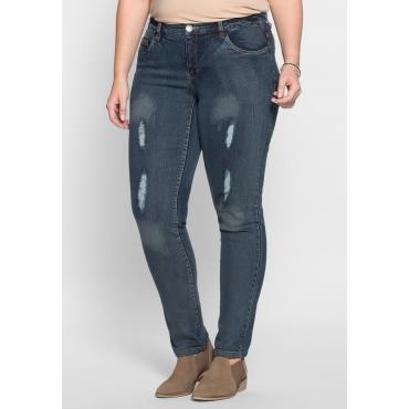 Große Größen: Schmale Stretch-Jeans Kira, blue Denim, Gr.21-104