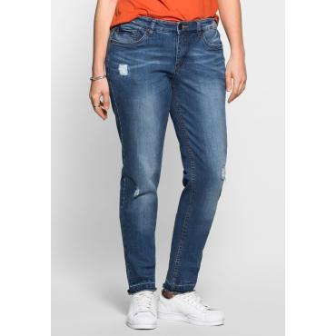Große Größen: Schmale Stretch-Jeans KIRA, blue Denim, Gr.40-58
