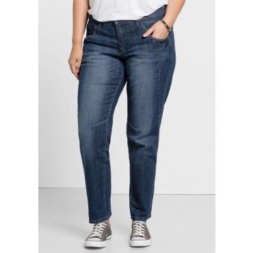 Große Größen: Schmale Stretch-Jeans KIRA, dark blue Denim, Gr.20-116