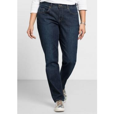 Große Größen: Schmale Stretch-Jeans KIRA, dark blue Denim, Gr.40-116